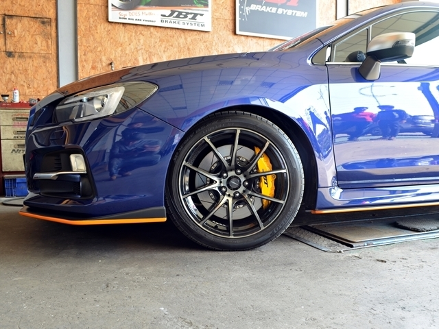 SUBARU LEVORG fitted JBT BRAKE SYSTEM